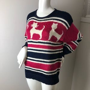 Vintage 80's Cat theme Pullover Sweater M